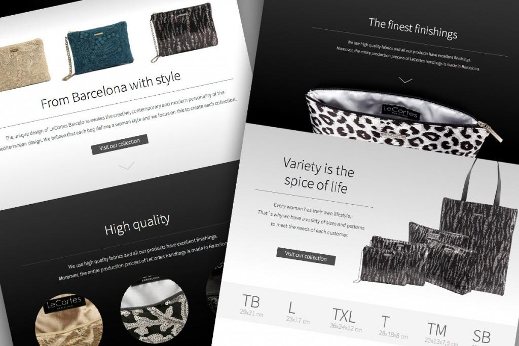 Diseño web Le Cortes