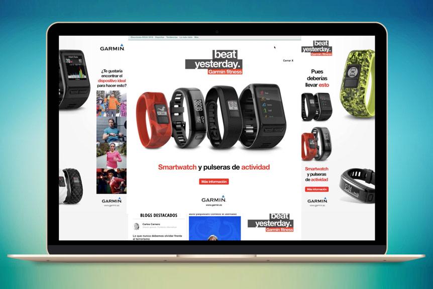Pubilicidad online Garmin 2016