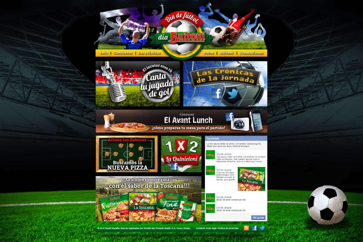 Diseño web promoción Buitoni