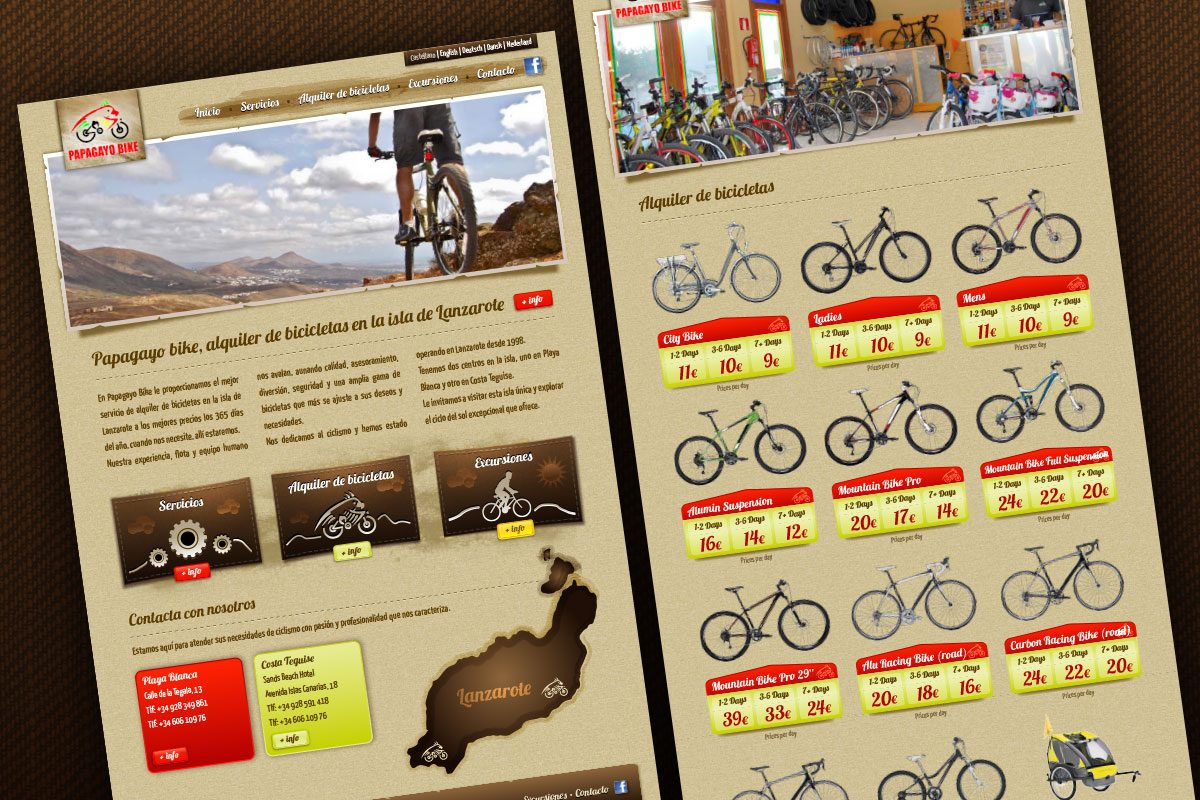 Diseño Web Papagayo Bike